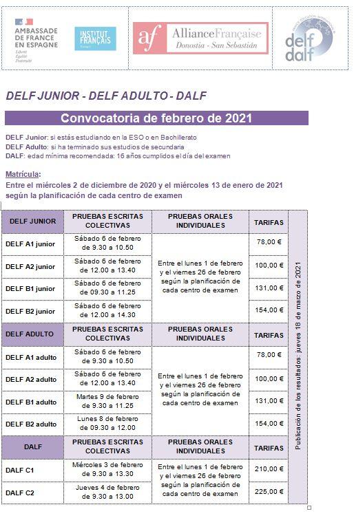 EAMENES DELF DALF FEVRIER 2012